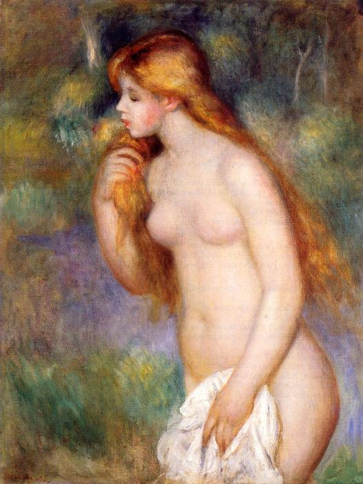 famous painting Standing Bather 1 of Pierre-Auguste Renoir