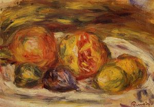 Pierre-Auguste Renoir - Still Life Pomegranate, Figs and Apples