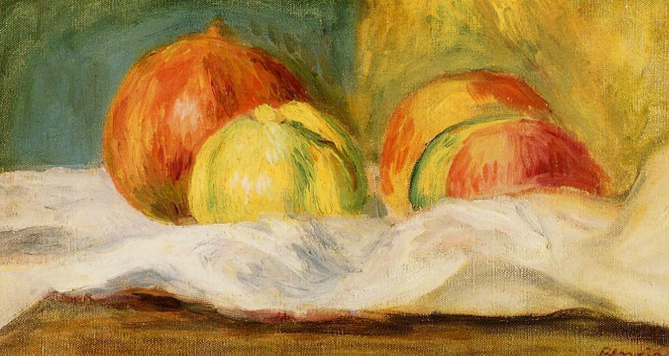 famous painting Still Life with Apples and Pomegranates of Pierre-Auguste Renoir