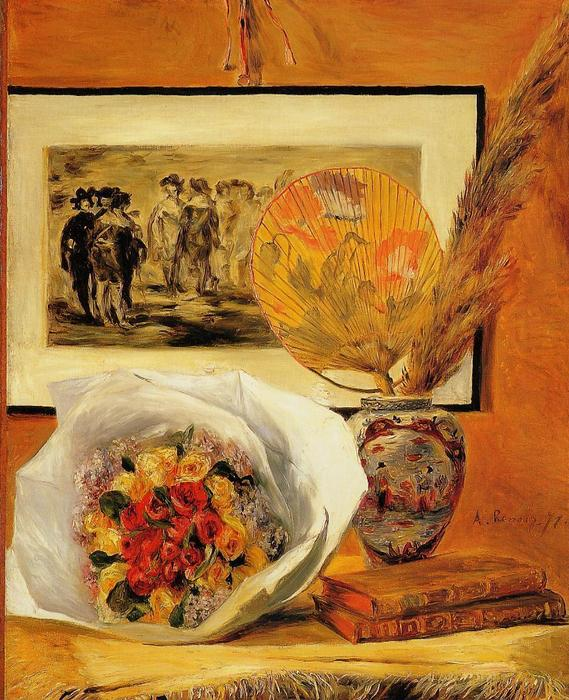 famous painting Still Life with Bouquet of Pierre-Auguste Renoir