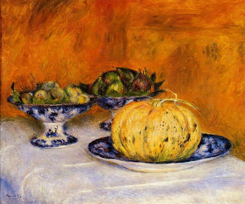famous painting Still Life with Melon of Pierre-Auguste Renoir