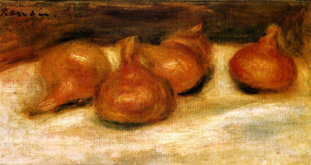 famous painting Still Life with Onions of Pierre-Auguste Renoir