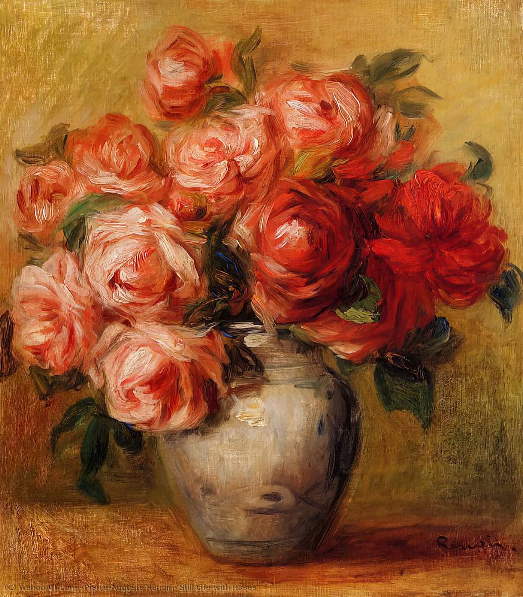 famous painting Still Life with Roses of Pierre-Auguste Renoir