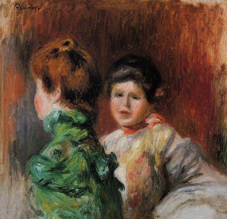 famous painting Study Two Women s Heads of Pierre-Auguste Renoir