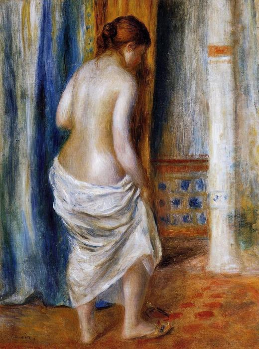 famous painting The Bathrobe of Pierre-Auguste Renoir