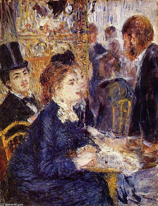 famous painting The Cafe of Pierre-Auguste Renoir