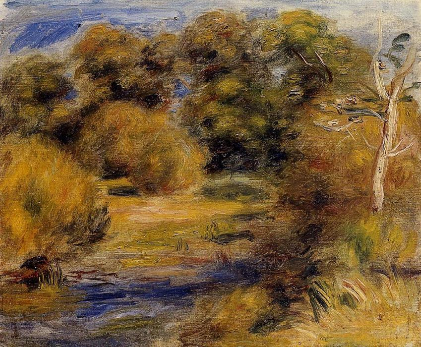 famous painting The Clearing 1 of Pierre-Auguste Renoir