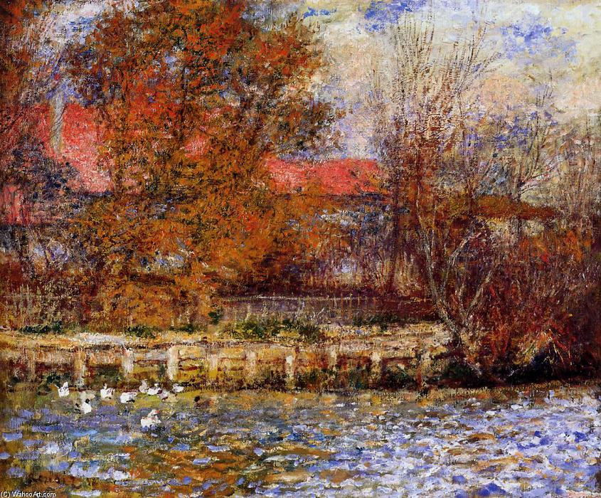 famous painting The Duck Pond of Pierre-Auguste Renoir