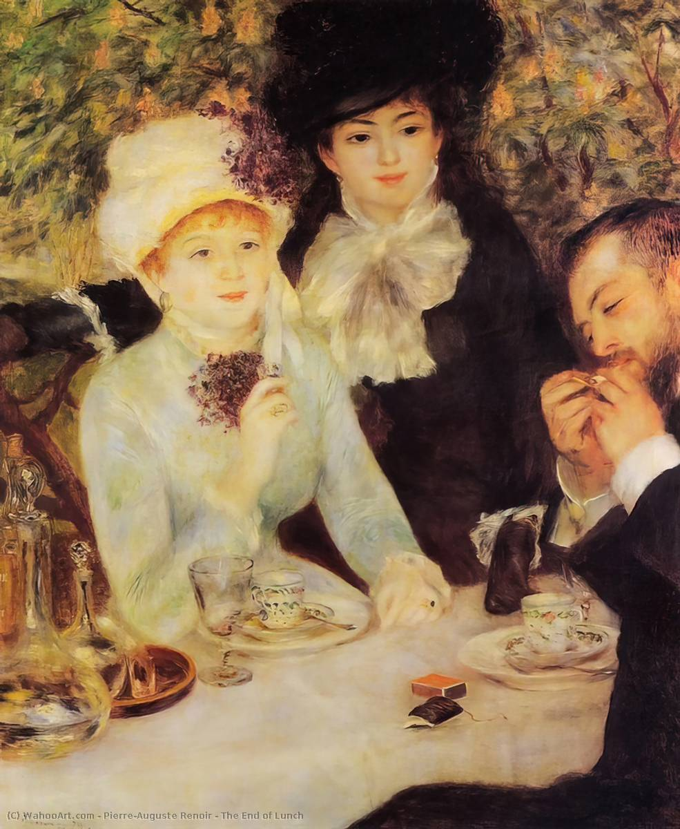 famous painting The End of Lunch of Pierre-Auguste Renoir