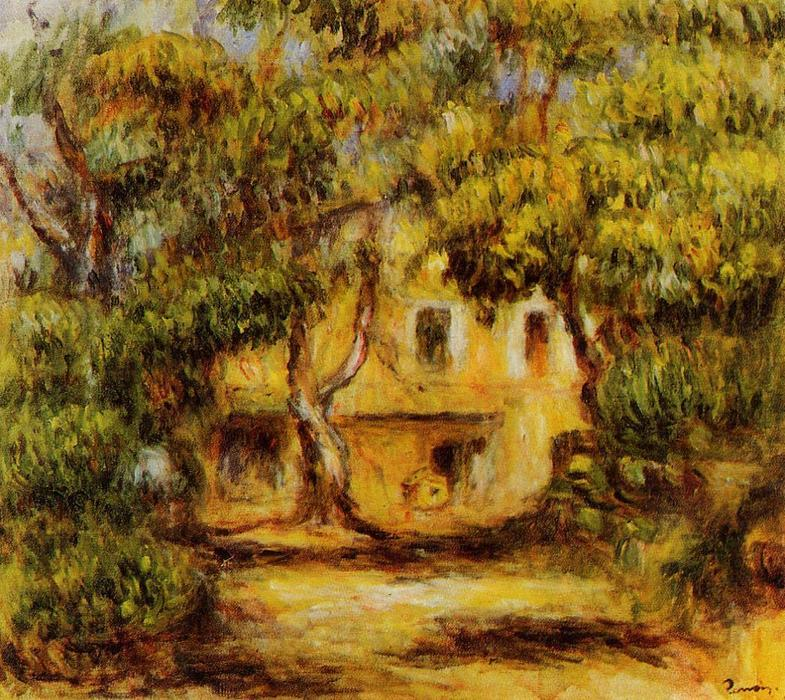 famous painting The Farm at Collettes of Pierre-Auguste Renoir