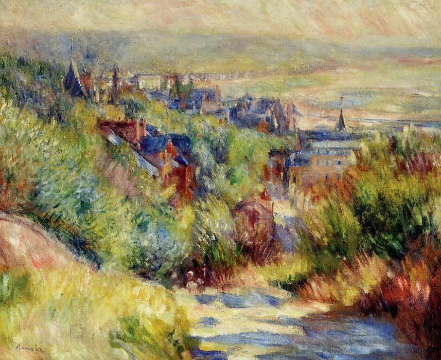 famous painting The Hills of Trouville of Pierre-Auguste Renoir
