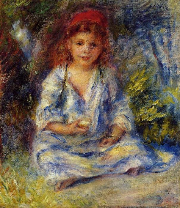 famous painting The Little Algerian Girl of Pierre-Auguste Renoir