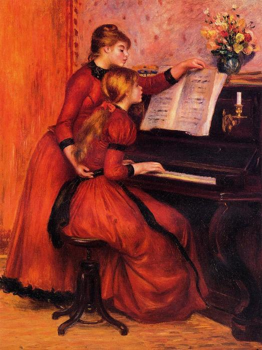 famous painting The Piano Lesson of Pierre-Auguste Renoir