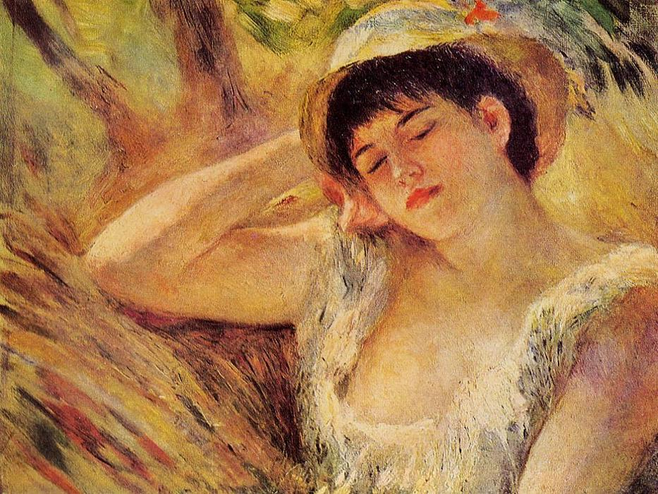 famous painting The Sleeper of Pierre-Auguste Renoir