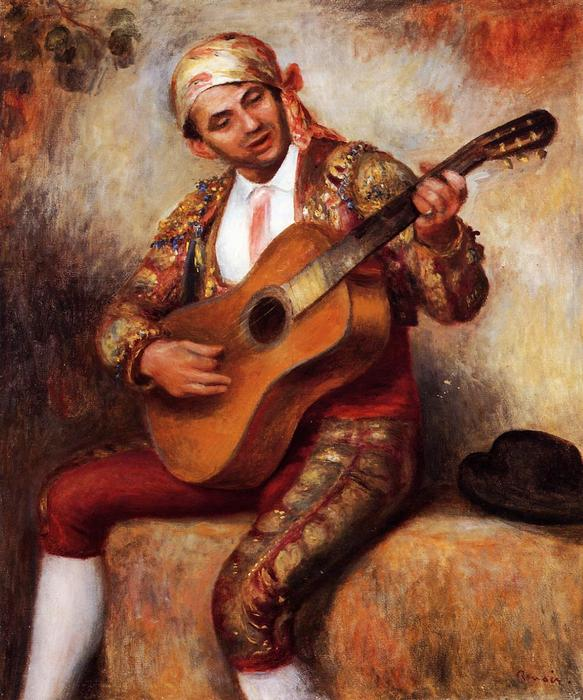 famous painting The Spanish Guitarist of Pierre-Auguste Renoir