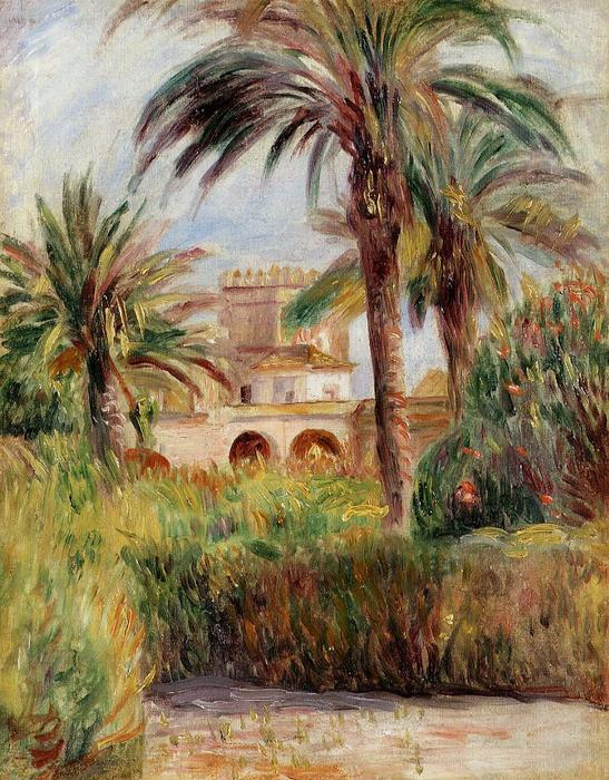 famous painting The Test Garden in Algiers of Pierre-Auguste Renoir