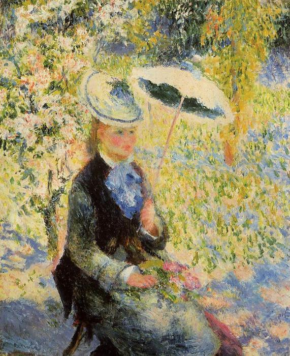 famous painting The Umbrella of Pierre-Auguste Renoir