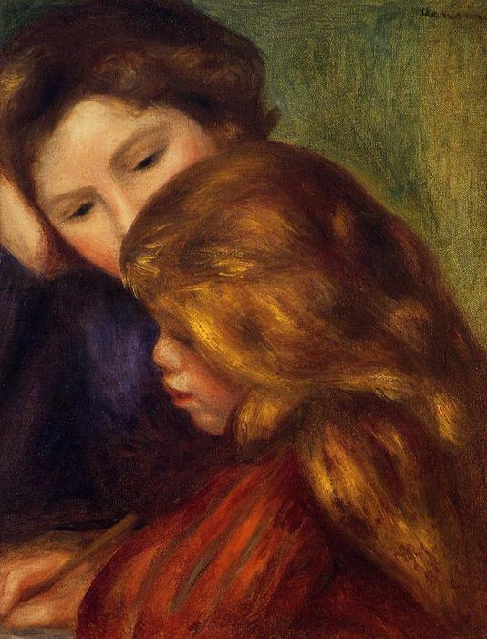 famous painting The Writing Lesson of Pierre-Auguste Renoir