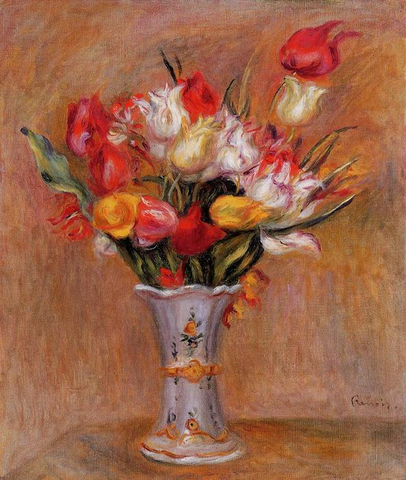 famous painting Tulips of Pierre-Auguste Renoir