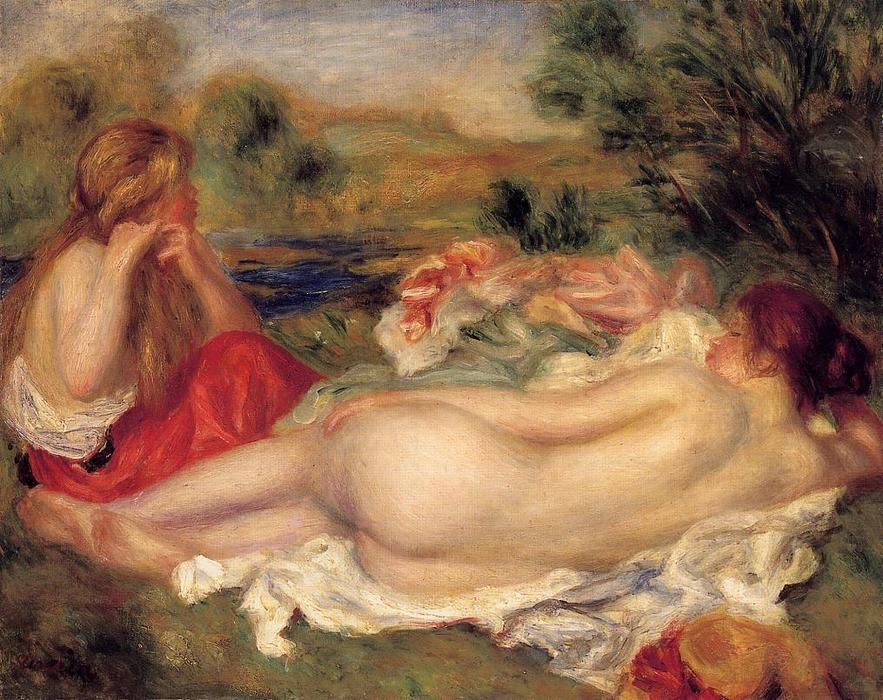famous painting Two Bathers 1 of Pierre-Auguste Renoir