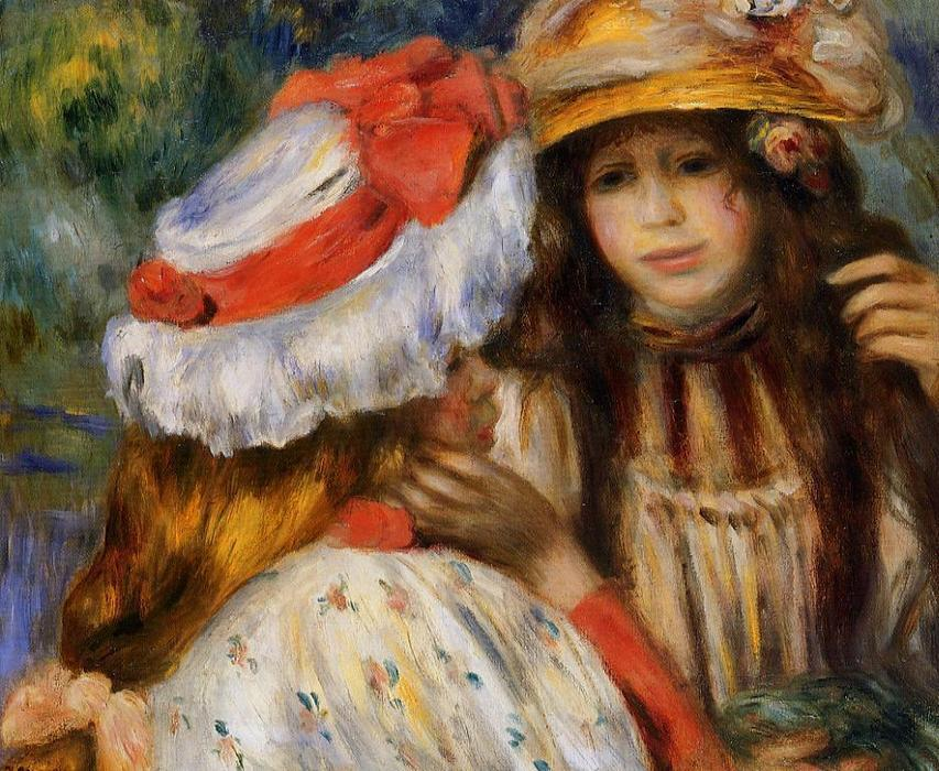 Order Reproductions Impressionism | Two Sisters 1 by Pierre-Auguste Renoir | TopImpressionists.com