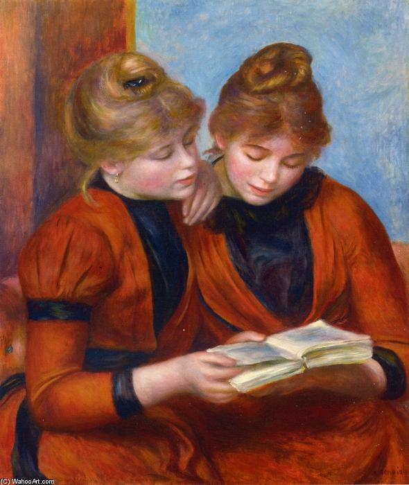 famous painting Two Sisters of Pierre-Auguste Renoir