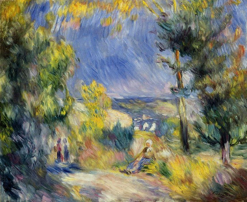 famous painting View Close to Antibes of Pierre-Auguste Renoir