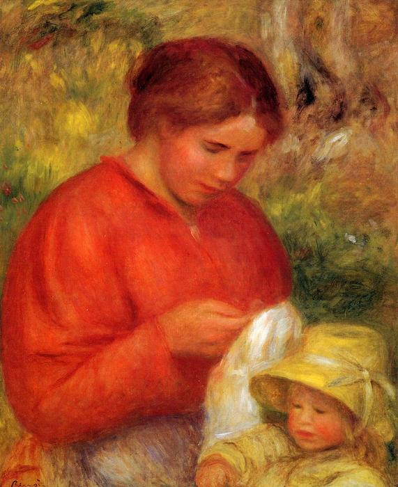 famous painting Woman and Child 1 of Pierre-Auguste Renoir
