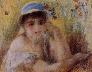 Pierre-Auguste Renoir - Woman in a Straw Hat 2