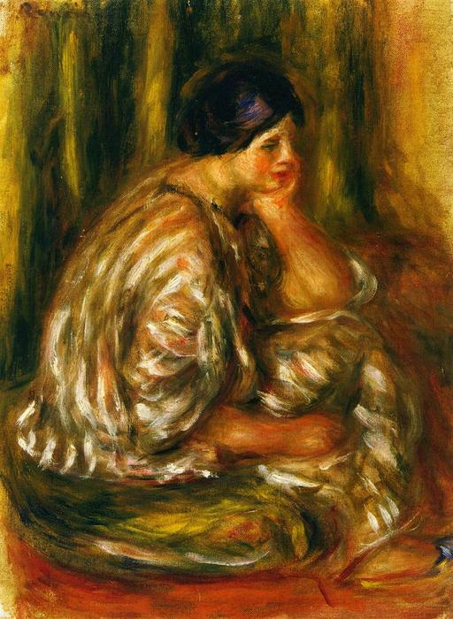 famous painting Woman in an Oriental Costume of Pierre-Auguste Renoir