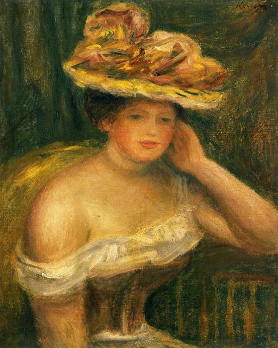 famous painting Woman Wearing a Corset of Pierre-Auguste Renoir