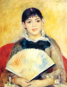 Pierre-Auguste Renoir - Woman with a Fan