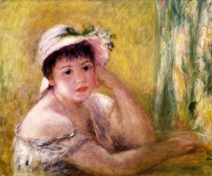 Pierre-Auguste Renoir - Woman with a Straw Hat