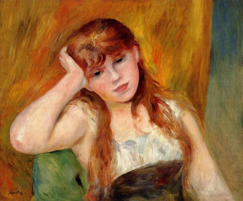 famous painting Young Blonde Woman of Pierre-Auguste Renoir