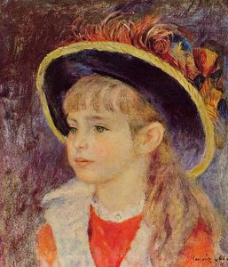 Pierre-Auguste Renoir - Young Girl in a Blue Hat