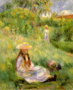 Pierre-Auguste Renoir - Young Girl in the Garden at Mezy