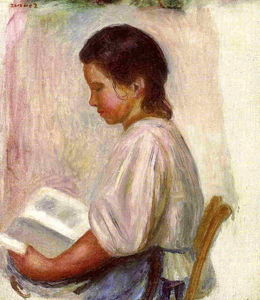 Pierre-Auguste Renoir - Young Girl Reading 1