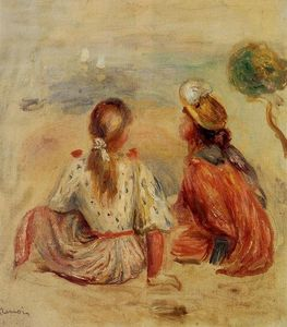 Pierre-Auguste Renoir - Young Girls on the Beach