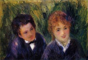 Pierre-Auguste Renoir - Young Man and Young Woman