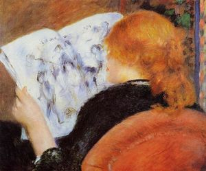 Pierre-Auguste Renoir - Young Woman Reading an Illustrated Journal