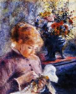 Pierre-Auguste Renoir - Young Woman Sewing