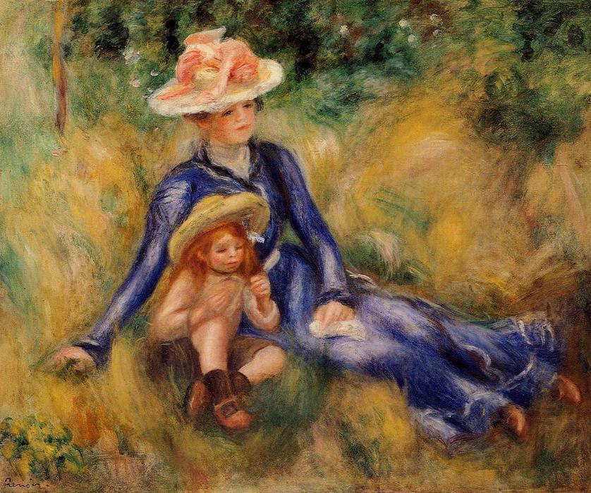 famous painting Yvonne and Jean of Pierre-Auguste Renoir