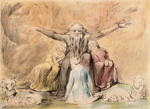 William Blake - Job and his daughters 1