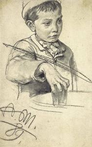 Adolph Menzel - Boy with a glass of water