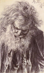 Adolph Menzel - Portrait of an Old Man