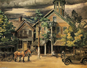 Charles Ephraim Burchfield - Old Taven At Hammondsville, Ohio