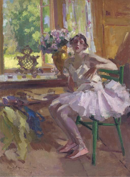 famous painting A ballerina at her toilette of Konstantin Alekseyevich Korovin