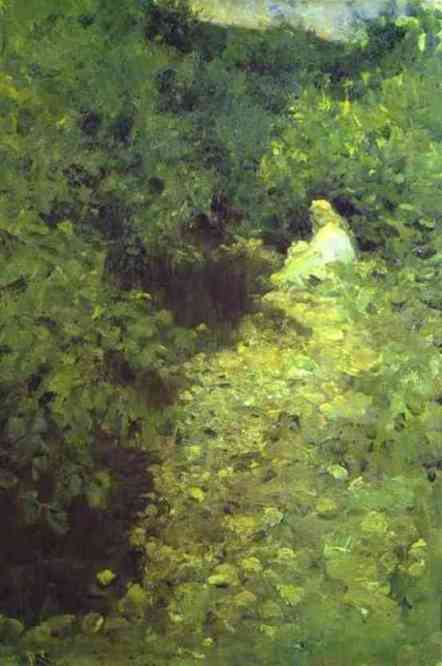 famous painting A Brook of Konstantin Alekseyevich Korovin