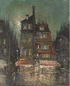 Konstantin Alekseyevich Korovin - Before the Hotel Bourgondie, Paris