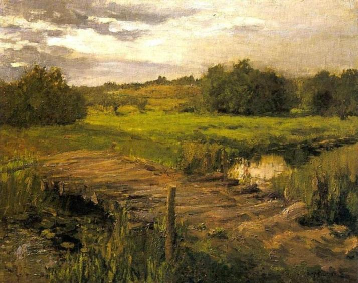 famous painting Brook of Konstantin Alekseyevich Korovin
